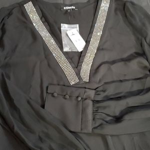 V neck with sparkle Top